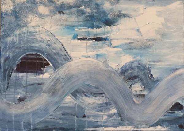 Die Mitte des Wellen-Triptychons